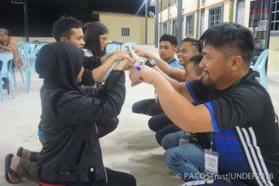 Ice-breaking wakil peserta-peserta belia Orang Asal