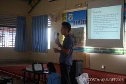 Perkongsian Addy selaku penyelaras program UNDEF PACOS mengenai misi & visi MBOAS