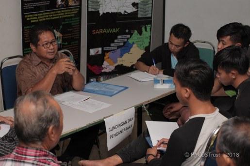 Sambungan sesi pertama Tamu Advokasi - kumpulan legal. En. Paulus Gahin berkongsi bersama peserta mengenai perundingan & pengantaraan